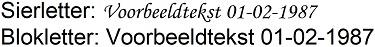 ashangertje - lettertypes