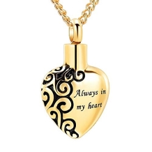 RVS Asketting Hanger Always in my Heart Goud