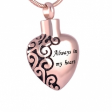 RVS Asketting Hanger Always in my Heart Rose
